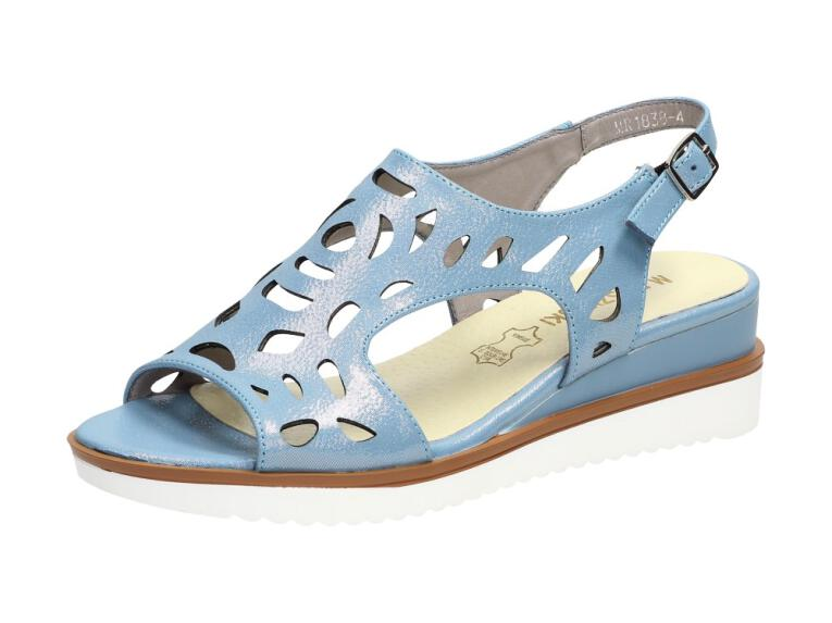 b5e7ea3429605 Niebieskie sandały damskie M.DASZYŃSKI 1838-4