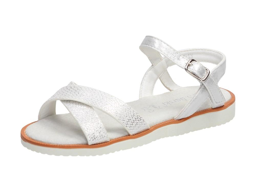 Białe sandały dziecięce S.BARSKI 341-1M