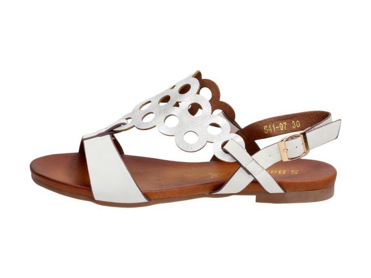 4ac923b7 Białe sandały damskie S.BARSKI 541-97
