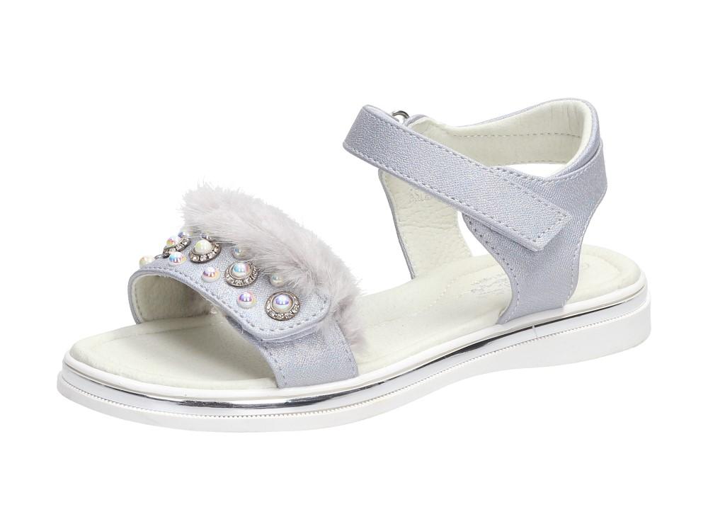 Srebrne sandałki dziecięce BADOXX 5sd618