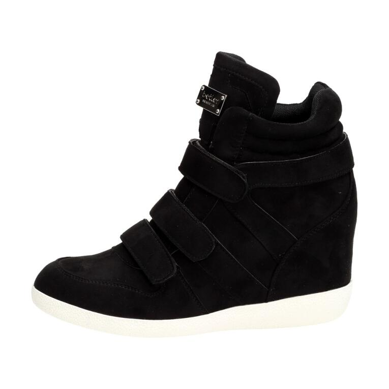 33edc1e10e619 Czarne sneakersy damskie, botki BETLER JT36-1