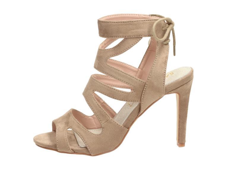 0bf5a4f20fc904 Beżowe sandały damskie, szpilki SABATINA 115