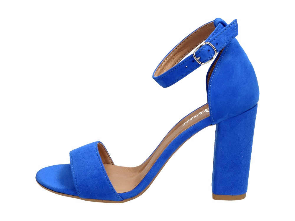 Niebieskie POLSKIE sandały damskie DEONI 1301 Deoni