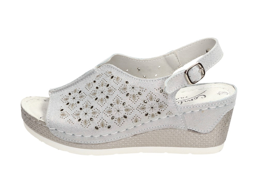 Skórzane sandały damskie FILIPPO DS1393 BLUE