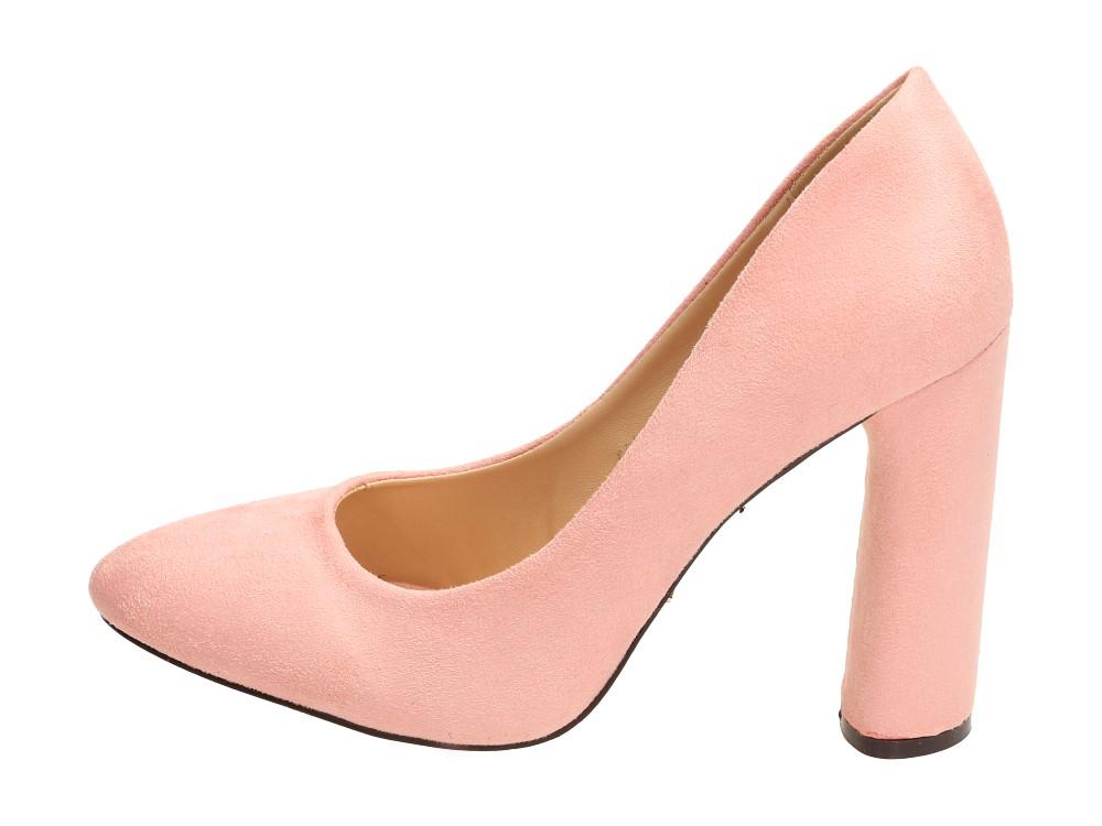 Różowe zamszowe czółenka damskie VICES 5081-20
