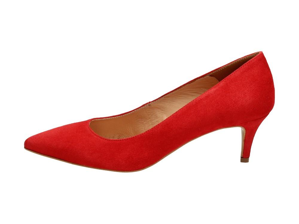 Czerwone POLSKIE szpilki damskie DEONI 1339ZAM Deoni