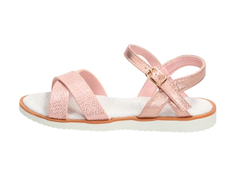 Różowe sandały dziecięce S.BARSKI 341-1D