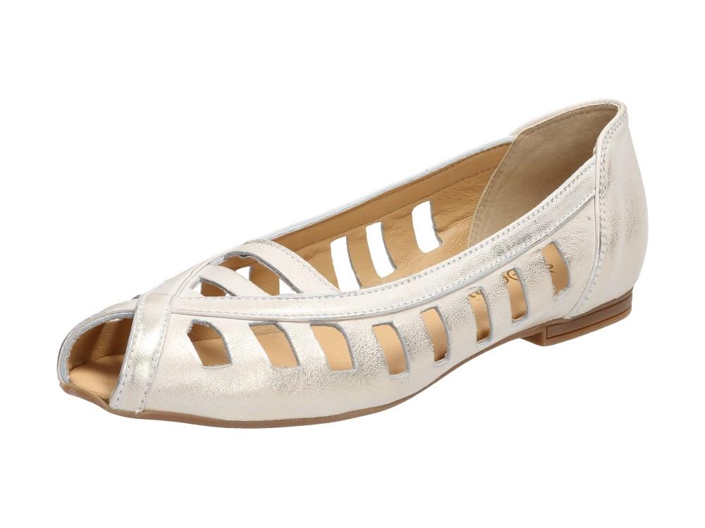 Złote POLSKIE baleriny damskie DEONI 2794