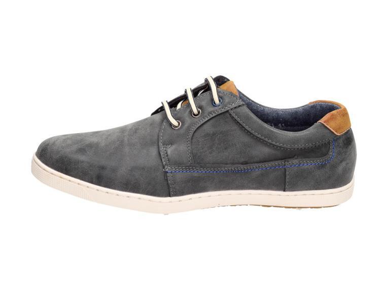 509a4e0cdd293 Szare półbuty męskie buty BADOXX 321