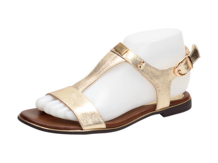 b9fcc4d63ec04 Złote sandały damskie M.DASZYŃSKI 1583-7