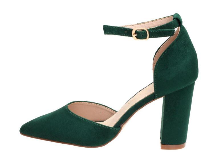 Zielone Sandały Sabatina DM19 20 buty damskie R.37