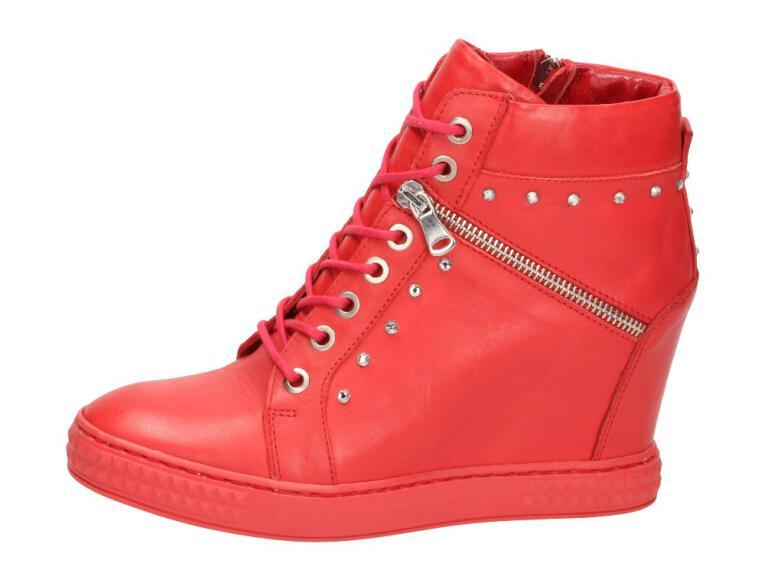 8de3d86b12cc23 Czerwone POLSKIE sneakersy damskie CARINII 3254