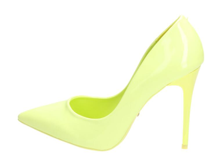 10b4ea0b Limonkowe szpilki damskie, czółenka VICES E396