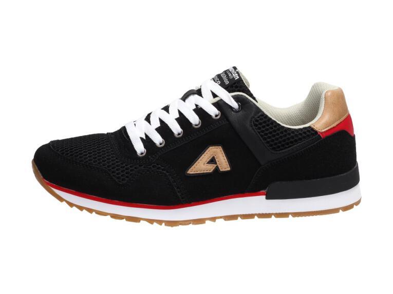 32847ea77bc06 Czarne sportowe buty męskie AMERICAN CLUB FH02