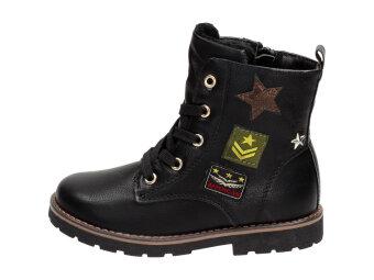39827e1a Czarne kozaczki dziecięce AMERICAN CLUB 17228B