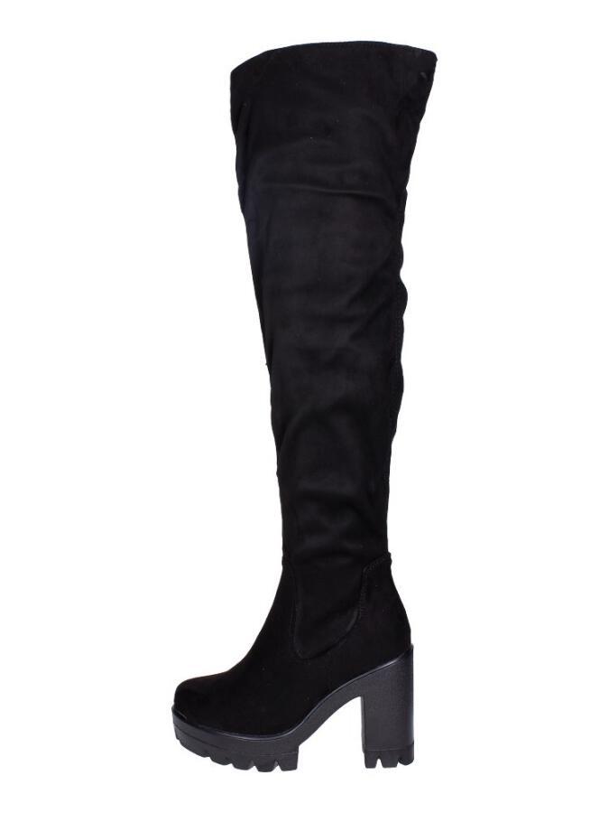 a78c69df4163 Czarne piękne długie kozaki VICES Y690