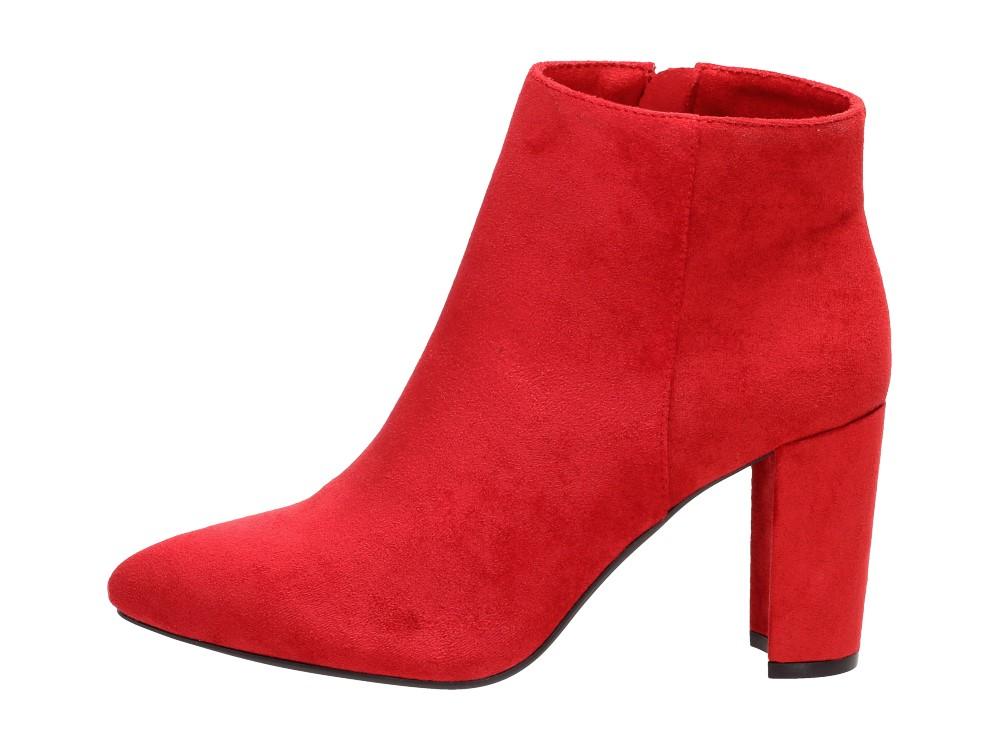 Czerwone botki damskie SERGIO LEONE BT548