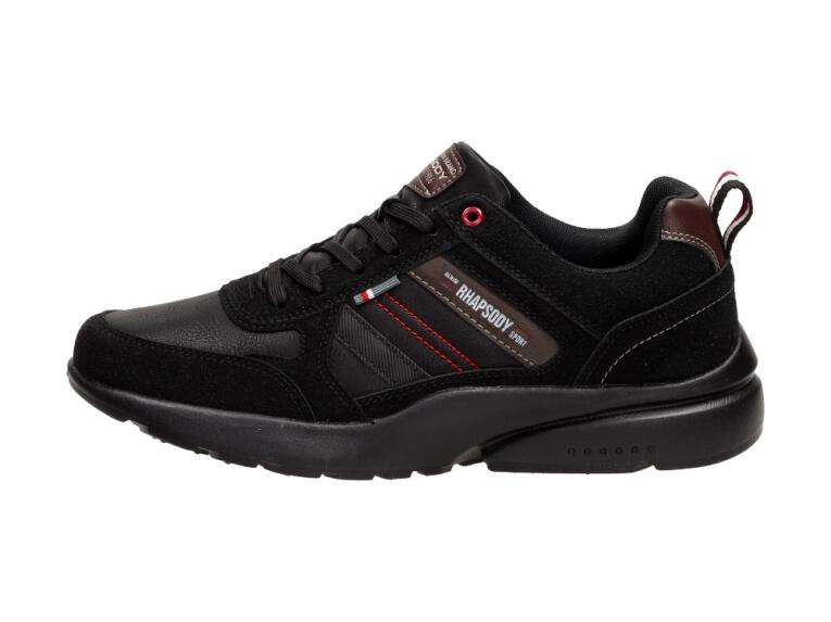 b5e2a79445320 Czarne męskie buty sportowe AMERICAN CLUB HA17