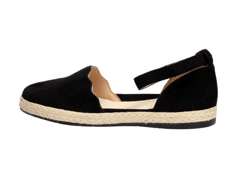Sandały damskie espadryle czarne S.Barski