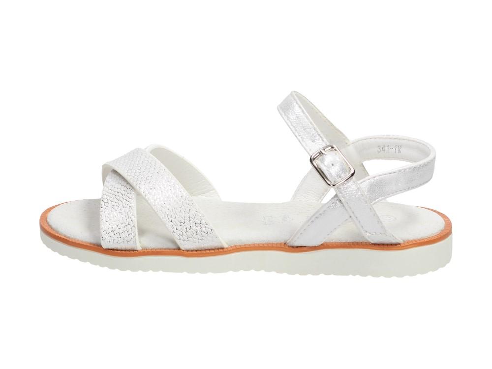 Białe sandały dziecięce S.BARSKI 341-1D