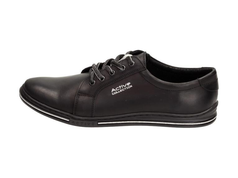 63125aa447c3 Skórzane POLSKIE buty męskie POLBUT 320 czarne